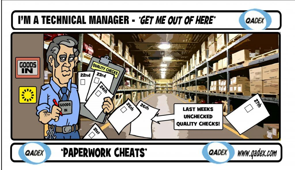 I'm a technical Manager -'Get Me Out Of Here' - 'Paperwork Cheats'