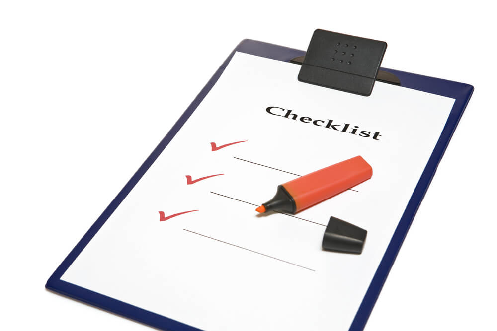 product handing over checklist