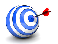 New product development software - dart hitting target