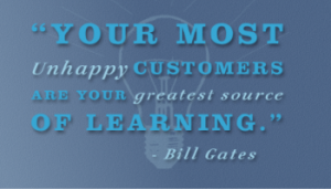 bill gates on customer service