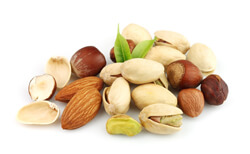 Allergen food labelling - Nut mix close up
